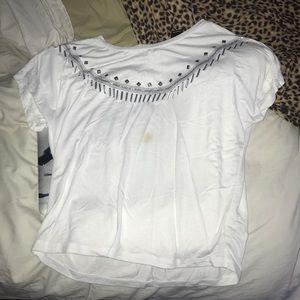 Express Beaded Neckline T-shirt